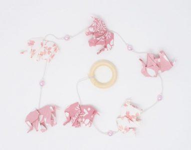Elephants Roses- Washi Japonais