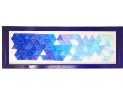 Tableau Pixels Bleus